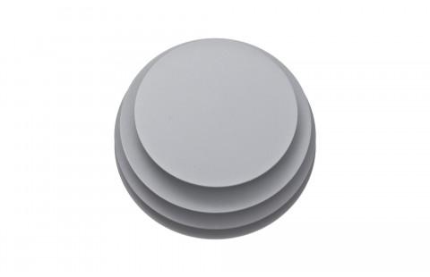 Guéridon design Ruche 7, laqué gris mat, par Avril de Pastre pour Polit. Chevet design, bout de canapé laqué, made in France