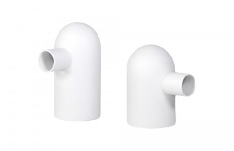 Tirelire design Petit Glouton blanc et Grand Glouton blanc en Porcelaine de Limoges