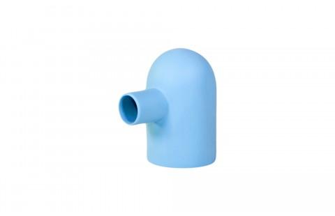 Tirelire design Petit Glouton bleu en Porcelaine de Limoges